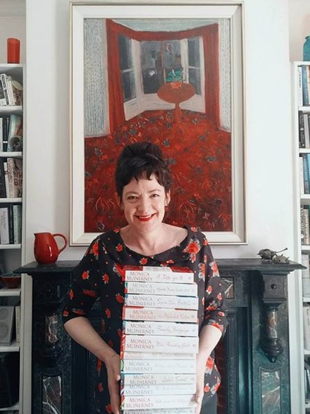 Monica McInerney with her twelve books